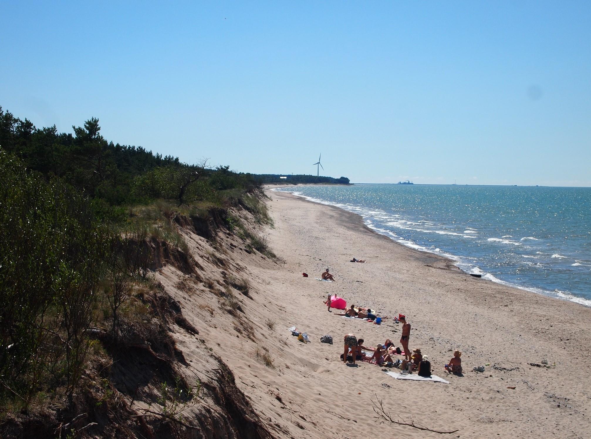 Beach at Southwestern Kurzeme coast near Liepaja